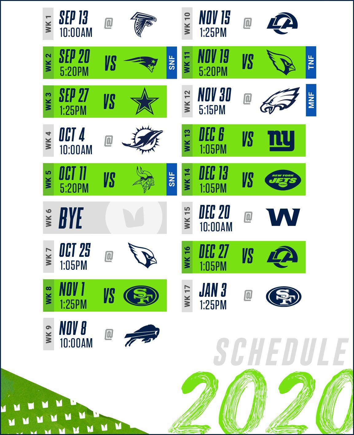 abbey road taphouse seattle seahawks schedule 2020